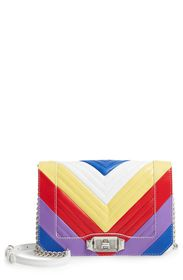 Rebecca Minkoff Leather Chevron Quilted Rainbow Lo