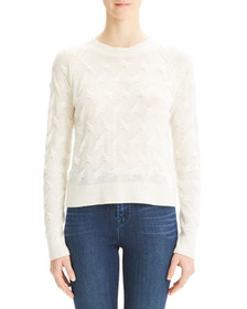 Theory Tucked Crewneck Cashmere Sweater