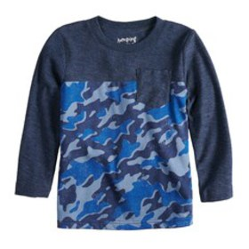 Baby Boy Jumping Beans® Camouflaged Pocket Tee