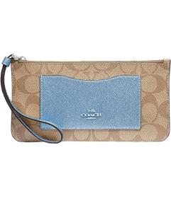 COACH Signature PVC Zip Top Wallet