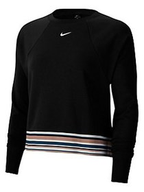 Nike Logo Get Fit Cotton-Blend Coverup BLACK WHITE
