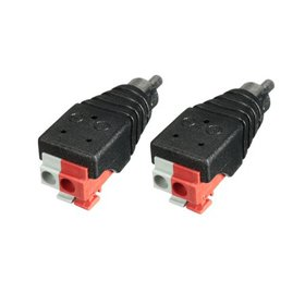 2Pcs Speaker RCA connector cable Wire Cable to Aud