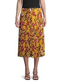 French Connection Eloise Floral-Print Pleated Skir
