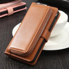 2in1 Removable Leather Stand Zipper Wallet leather