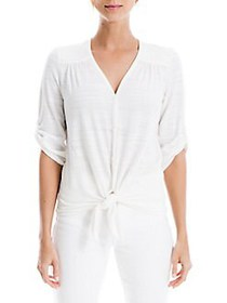 Max Studio Front-Knot Top WHITE