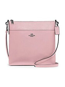 COACH Kitt Leather Messenger Bag PINK