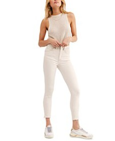 Raw High-Rise Jeggings