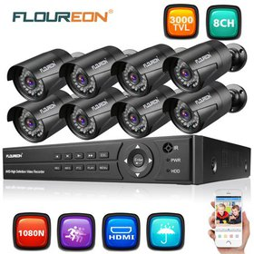 FLOUREON 8CH House Camera System DVR 1080N AHD + 8