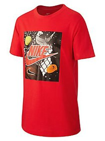 Nike Boy's Sportswear Graphic Cotton Tee RED