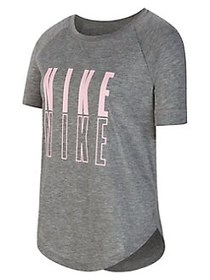 Nike Girl's Trophy Graphic Dri-FIT Tee PINK