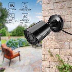 FLOUREON Outdoor Bullet Security Camera 1080P HD 3
