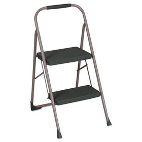 "Cosco 2-Step Big Step Folding Stool, 200lb, 22"" Sp"