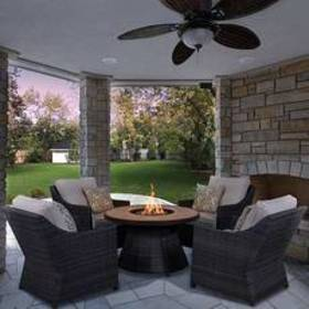 Southport 5pc. Aluminum Fire Pit Seating Set