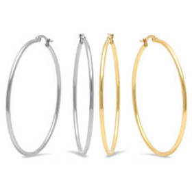 Womens Steeltime Set of 2 Steel & 18kt. Gold Plate