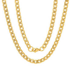 Mens Steeltime 18kt. Gold Plated & Accented Cuban