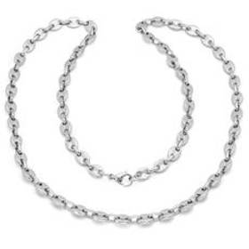 Mens Steeltime Stainless Steel Puff Mariner Chain