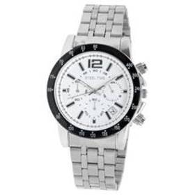 Mens Steeltime Silver Toned Chronograph Watch - 99
