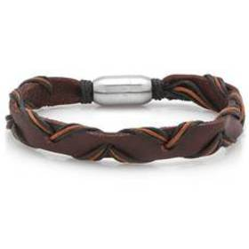 Mens Hypoallergenic and Genuine Leather Braided Br