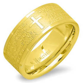 Womens Steeltime 18kt. Gold Plated Our Father Pray