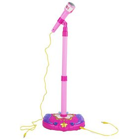 Standing Battery Operated Light Up Working Toy Mic