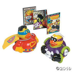 Limited Edition Superhero Rubber Duckies