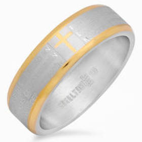 Mens Steeltime Two-Tone Stainless Steel Padre Nues