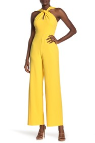 bebe Scuba Knit Sleeveless Jumpsuit