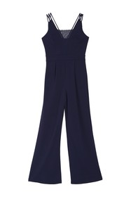 bebe Strappy Mesh Jumpsuit