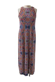 London Times Technicolor Tile Sleeveless Maxi Dres
