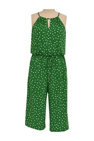 London Times Happy Square Gaucho Jumpsuit (Plus Si