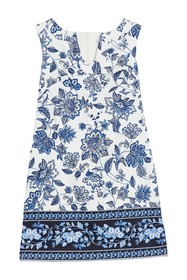 London Times Floral Sleeveless Mini Shift Dress