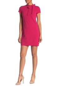 Vince Camuto Neck Bow Tie Scuba Crepe Dress