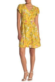 Velvet by Graham & Spencer Floral Print Flutter Sl