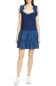 La Vie Rebecca Taylor Ruffle Detail Sleeveless Mix