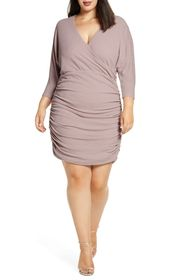 Vince Camuto Ruched Glitter Knit Body-Con Dress