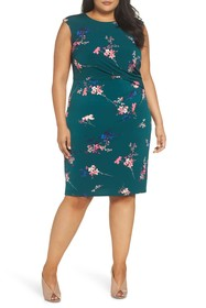 Eliza J Floral Print Cap Sleeve Dress