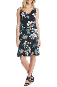 Karen Kane Sleeveless Ruffle Hem Dress
