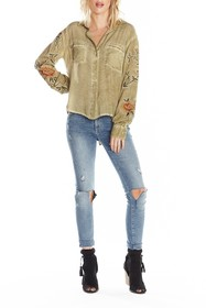 ARATTA Kate Woven Button Down Shirt
