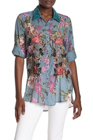 ARATTA Countess Margaret Floral Sequin Shirt