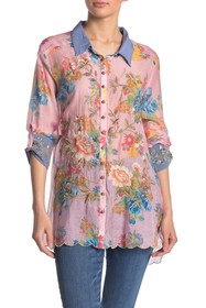ARATTA Wonder Happiness Front Button Floral Print