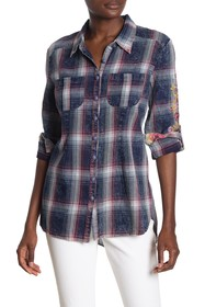 ARATTA Barbara Plaid Embroidered Shirt