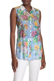 ARATTA Just Friends Floral Button Down Shirt