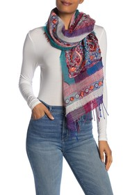 ARATTA Lynn Hand Embroidered Wool Blend Shawl