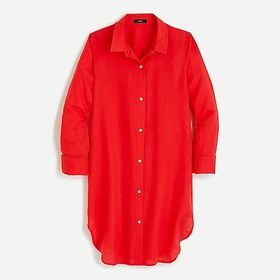 J. Crew Button-up beach cover-up in linen-cotton