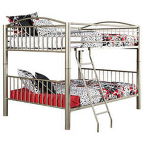 Powell Spencer Metal Full Over Full Bunk Bed