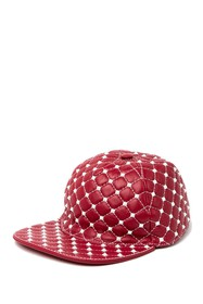 Valentino Metal Studded Leather Cap