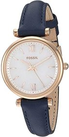 Fossil Carlie Mini Three-Hand Leather Watch