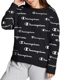 Champion Womens Plus Size Campus French Terry Prin