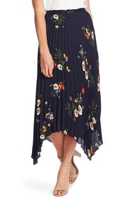 Vince Camuto Surreal Garden Asymmetrical Pleated S