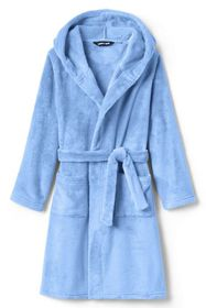 Lands End Toddler Kid Hooded Fleece Solid Robe